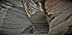 LIMESTONE AND LUMBER (Rob Patzke) Tags: steps stone stairway lumber rock limestone panasonic lx100 lumix gray wow framing perspective texture brown