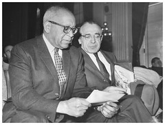 Patterson challenges HUAC on passport issue: 1959 (Washington Area Spark) Tags: william l patterson louise thompson abraham unger sunday worker passport communist party international labor defense civil rights congress huac house un american activities committee defy refuse washington dc 1959
