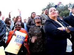 Former Richmond Mayor Irma Anderson, Joan Carpenter and Assemblymember Wendy Carillo; Kamala Harris For the People (xaviergardens) Tags: 2020presidentialelection ussenatorkamalaharris democraticparty oakland oaklandcityhall california