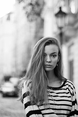Emma (kaddafi210) Tags: m42 portrait czech girl prague beauty pretty retro samsung nx210 mirrorless brunette czechgirl bw monochrome blackandwhite