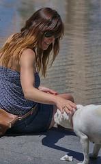 Making Friends (Scott 97006) Tags: woman female lady dog canine animal meet greet pat socialize