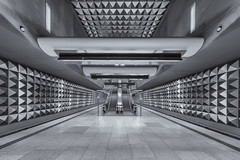 The Vault (Andrew G Robertson) Tags: olympia einkaufszentrum munich germany underground metro munchen bavaria geometry future modern architecture
