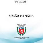 Sessão Plenária 03/12/2018