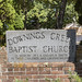 Downings Creek Baptist Church Sign