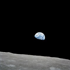 Earthrise: Luna Surface and Earth Seen from Apollo 8 Spacecraft