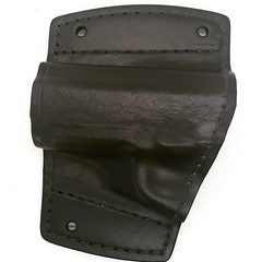 Colt 1911 Car Holster Front (americanleathersmith) Tags: carholster leatherholster gunholster concealcarry holster mounted leather