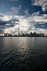 toronto_downtown_clouds_island-ferry_01_8780411812_o (wvs) Tags: centre cityscape clouds cn cntower downtown island lake landscape toronto ontario canada can