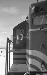 Boston & Maine Diesel Engine on the Heber Valley Railroad - Heber City, Utah (Shaun Nelson) Tags: train railroad hvr hebervalleyrailroad leica m3 leicam3 summarit 50mm film filmphotography filmisnotdead 35mm analog ishootfilm filmcamera believeinfilm filmcommunity filmfeed buyfilmnotmegapixels thefilmcommunity shootfilm ilford hp5 hebercity ut utah utahfilmphotography utfp utahfilmphotographycom