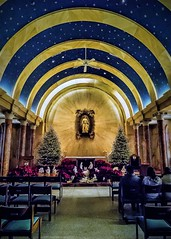 Nativity scene... (Pedro1742) Tags: christmas blue chairs arches