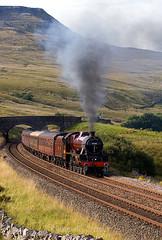 Ais Gill jubilee (stevenjcrozier) Tags: 5690 ais gill fellsman settle carlisle steam climb jubilee wcrc