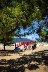 Fortune Bridge, Tsuda Matsubara (DanÅke Carlsson) Tags: japan japanese tsuda matsubara sanusi shikoku bridge sea shore beach pine water ocean seto inland blue green