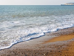 Just like a holiday brochure.... (Patricia Lucy) Tags: beach seaford tide shingle pebbles