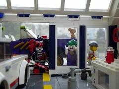 Tiny Workshop (captain_joe) Tags: sooc toy spielzeug 365toyproject lego minifigure minifig batman harley quinn harleyquinn joker joescars mikethemechanic auto car