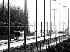 Kusttram bei Umfahrung der Seeschleuse in Zeebrugge (M. Schirmer Berlin) Tags: belgië belgien vlanderen flandern küste nordsee küstentram küstenstrasenbahn kusttram delijn tramway tram strasenbahn atlantikwall belgique coasttram zeebrugge pierrevandammesluis zeesluis vandammesluis sluis brug ophaalbrug klappbrücke schleuse bridge sluice basculebridge noordzee zeebrügge