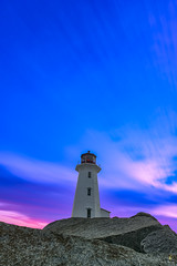 Peggy's Cove Lighthouse at Sunrise (Chriskellyphotography) Tags: halifax atlanticocean atlantic longexposure clouds coast novascotia nikkor20mm sunrise peggyscove skies rockbeach touristlocation landscape peggycovelighthouse landmark famousplaces beautifulskies