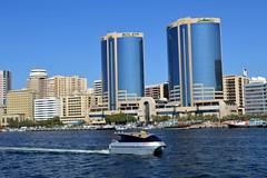 Dubai, United Arab Emirates (Seventh Heaven Photography *) Tags: dubai uae united arab emirates nikon d3200 creek water boat buildings towers archetecture blue sky skyline city skyscraper