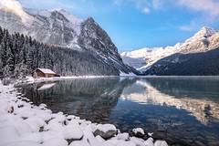 Lake Louise (Margarita Genkova) Tags: reflection snow winter nature landscape lakeloise banffnationalpark