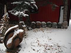 Saskatoon Berry Farm YYC (Mr. Happy Face - Peace :)) Tags: snow autumn fall yyc albertabound art2018 tour art architecture farming marketgarden