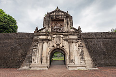 Fort Santiago de Manille (Voyages Lambert) Tags: travelobsoleteportugueseculturemelakastatereligioncolonia travel obsolete portugueseculture melakastate religion colonialstyle history journey exploration old traditionalculture famousplace architecture traveldestinations outdoors horizontal tourist manila philippines asia church fort gate tower southeast intramuros