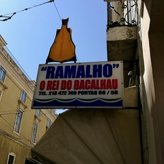 Lisbon 2018 – O Rei do Bacalhau (Michiel2005) Tags: ramalho oreidobacalhau sign uithangbord bord portugal lisbon lissabon lisboa