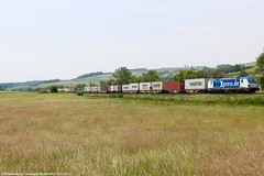BoxXpress 193 841 am 23.05.2018 mit einem Containerzug in Haunetal-Neukirchen (Eisenbahner101) Tags: