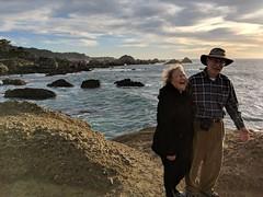 i love my parents (citizensunshine) Tags: california cali pointlobos shore coast coastline shoreline ocean sea waves wave cliff cliffs family monterey carmelbythesea park
