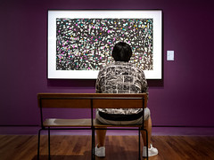 Abstract Gallery (thecrapone) Tags: gallery frame thinking art museum sitdown busy abstract appreciating purple nationalgallerysingapore wuguanzhong painting simple joy appreciation colours exhibition