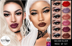 [MJN] & [LeLuck] ~ HolidayGlam (Sunkora) Tags: secondlife collab eyeshadow lipstick dubai event mjm leluck applier catwa omega new meshhead