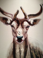 Oh Deer ... (Mr. Happy Face - Peace :)) Tags: public unknown artist oils art2018