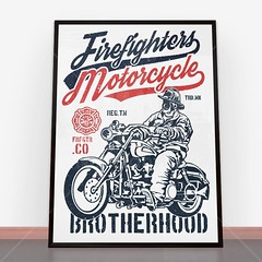 Plakat Firefighters Motorcycle (nasciany) Tags: plakat plakaty nascianypl dekoracje wall wallpaper walls plakatydekoracyjne ilustracja posters print decor decortion art homedecor home homesweethome interiordesign decorations interior design walldecor walldecoration homedesign printablewallart decorativeposter wystrojwnetrz illustration