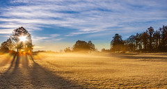 Morning has broken (christianviktorsson) Tags: canon 50d 18135mm golfbana åtvidaberg morning sunrise fog mist autumn