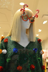 Ready for Christmas (radargeek) Tags: mall oklahomacity pennsquaremall 2018 november veteransday mannequin christmas reflection selfie forever21 candycane glasses fashion