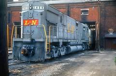 L&N #1409 sits outside the MONON locomotive shop awaiting a heavy repair requiring the use of the 200 ton overhead crane. (rrradioman) Tags: c628 alco