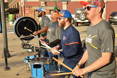 Creating Thunder in the street (radargeek) Tags: okc oklahomacity automobilealley downtown drummers thunder percussion drumline 2018 november