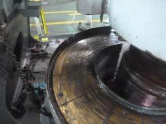 Resize of P1360508 (OpalStream) Tags: rudder marine vessel repair works overhauling workshop measurements filler gauge dirt