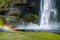 Seljalanfoss Waterfall Iceland (cliffwilliams449) Tags: waterfall iceland rainbow water beauty crop stunning seljalandfoss cave