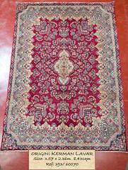 393 Kerman Lavar 357x236, 8.43 (Persian Rugs UK) Tags: 357x236 393 60070 843 kermanlavar loc medallion persian