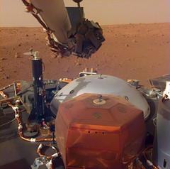 NASA's Mars InSight Flexes Its Arm (NASA's Marshall Space Flight Center) Tags: nasa jpl jet propulsion laboratory marshall space flight center msfc solar system beyond moon mars planet insight lander