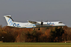 G-JECL DHC-8Q 402 Flybe MAN 18-11-18 (PlanecrazyUK) Tags: egcc manchester ringway manchesterairport gjecl dhc8q402 flybe man 181118