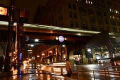 Chicago (Bhargav Kesavan) Tags: night nightphotography city street urban rushhour transit citybynight chicago illinois millenniumpark washingtonstchicago cta chicagotransit people crowd photography longexposure nikon
