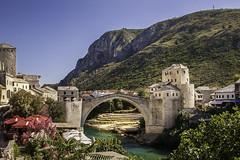Bridge Stari Most over the river Neretva in Mostar, Bosnia & Hercegovina (hwallenholm) Tags: mostar stari most bridge bosnia hercegovina