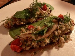 Carmelized eggplant with crispy tabbouleh (TomChatt) Tags: food parttimevegetarian