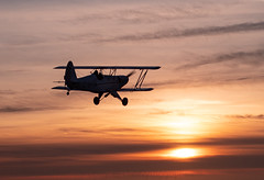"""Sunset flying...... (Air Frame Photography) Tags: eaa biplane tags uk england nikon d300 d500 """"airframe photography"""" avgeek realflying sunset sunrise """"iphone 4s"""" """"ipad 2"""" ipad iphone shootings runway flying power planespotting photography photographer motive motion modernaviation equipment enginee cockpit aircraft aircraftspotting airlines airplane airplanes aviationspotting aviationphotography aviationstock aviationphotographer aviationstockimages businessjetphotographer commercialbizjetphoto commericalaviationphotography """"hintoninthehedges"""" rv piper cessna """"biz jet"""" """"oxford airport"""" oxford bizjets airtoair a2a airliners airlinersnet """"jeremy clarkson house"""" gopro """"gopro hero2"""" j3 cub hero 3 black"""""""