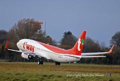 B737 A6-FDK (HL8327) T'WAY 3 (shanairpic) Tags: jetairliner passengerjet b737 boeing737 shannon iac eirtech flydubai tway a6fdk hl8327