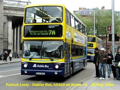 Route 7A, O'Connell Street to Mackintosh Park, Dublin Bus, AX460, 18 May 2006 (Shamrock 105) Tags: dublinbus dublin volvo volvob7ldd route7a mackintoshpark oconnellstreet alx400