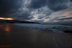 3KA11277a_C_2018-11-20 (Kernowfile) Tags: cornwall cornish sunset stives porthmeorbeach beach sand people sun sea waves spray breakingwaves foam clouds sky reflections