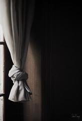 (moggierocket) Tags: abandoned castle hotel window curtain chiaroscuro