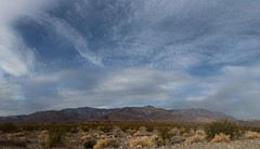 1082 Panorama of high clouds over Telescope Peak from the West Side Road (_JFR_) Tags: camping hiking deathvalley deathvalleynationalpark telescopepeak westsideroad