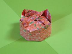 Picnic basket (Mélisande*) Tags: mélisande origami box square picnic