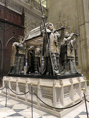 Tomb of Christopher Columbus, Seville Cathedral, Seville, Spain (geoff-inOz) Tags: christopher columbus tomb cathedral seville heritage spain historic andalusia architecture cristóbalcolón